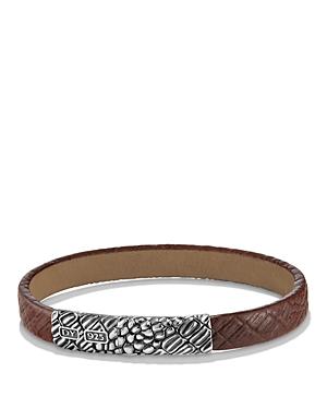 David Yurman Naturals Gator Leather Bracelet in Brown