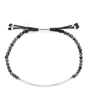 Gorjana Snowflake Obsidian Courage Bracelet