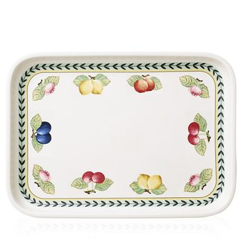 "Villeroy & Boch - French Garden Baking Rectangular 14"" Serving Plate/Lid"