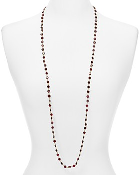 Ela Rae - Diana Garnet Coin Beaded Necklace, 42""