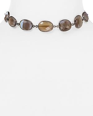 Ela Rae Sadie Moonstone Choker Necklace, 12