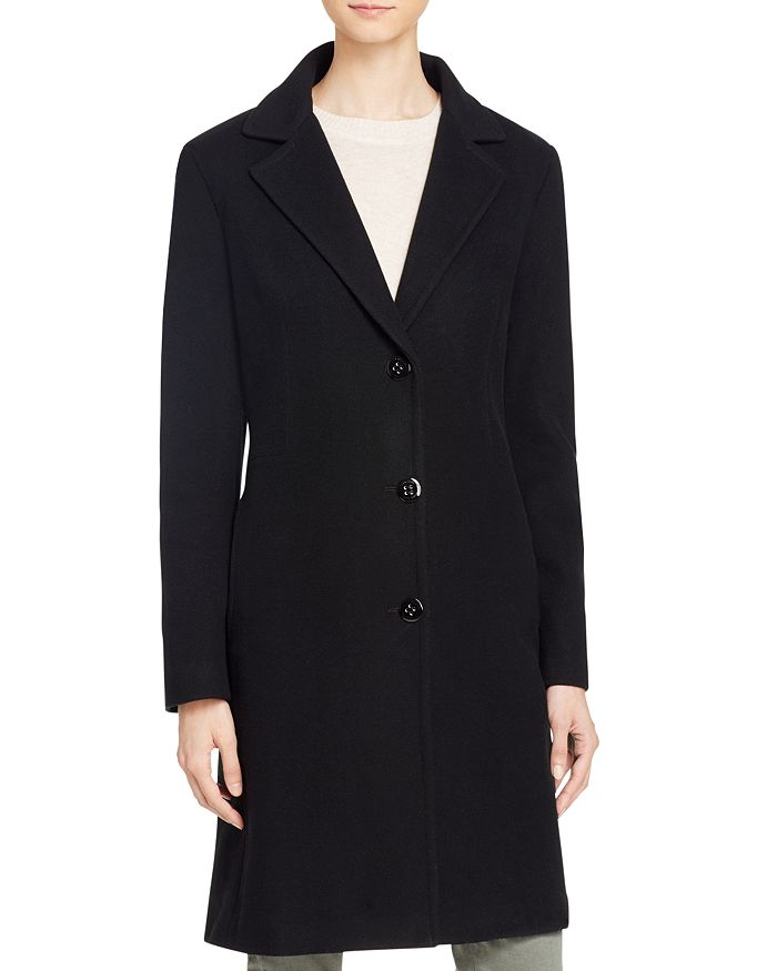 1c5f4ec9e3 Calvin Klein Single-Breasted Button Front Coat | Bloomingdale's