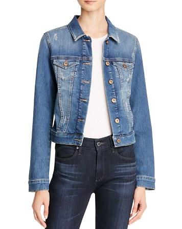 $Mavi Samantha Denim Jacket in Shaded Ripped Vintage - Bloomingdale's