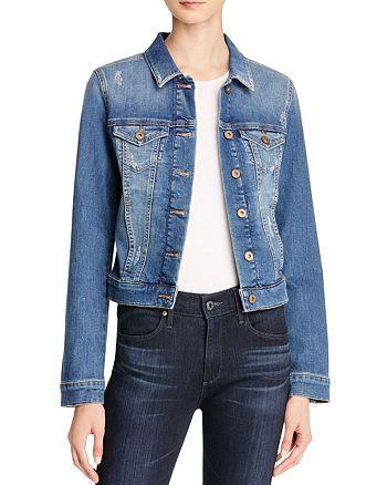 Mavi - Samantha Denim Jacket in Shaded Ripped Vintage