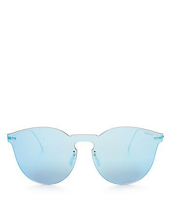 Illesteva - Women's Leonard II Mirrored Shield Sunglasses, 60mm