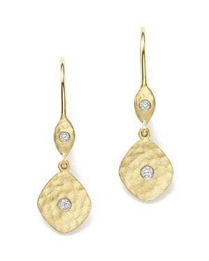 Meira T 14K Yellow Gold Kite Disc Earrings with Diamonds