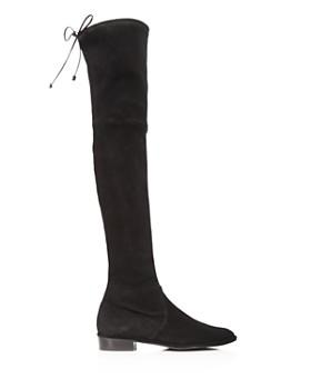 38bda37ec4b7 ... Stuart Weitzman - Women s Lowland Stretch Suede Over-the-Knee Boots