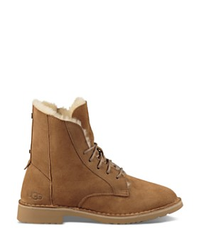 UGG® - Women's Quincy Leather and Sheepskin Lace Up Booties