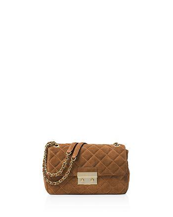 1d66d898f65b MICHAEL Michael Kors Sloan Large Quilted Suede Chain Shoulder Bag ...