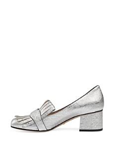 Gucci - Women's Marmont Metallic Mid-Heel Pumps