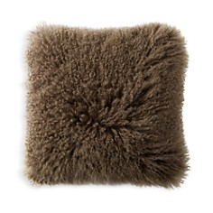 "Donna Karan - Flokati Fur Decorative Pillow, 20"" x 20"""