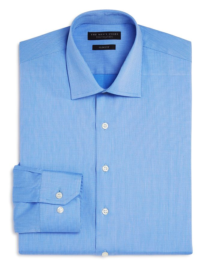 The Men's Store at Bloomingdale's - Textured Solid Slim Fit Basic Dress Shirt- 100% Exclusive