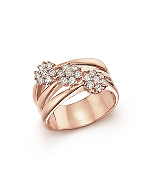 Diamond Multi-Band Ring in 14K Rose Gold, .58 ct. t.w - 100% Exclusive