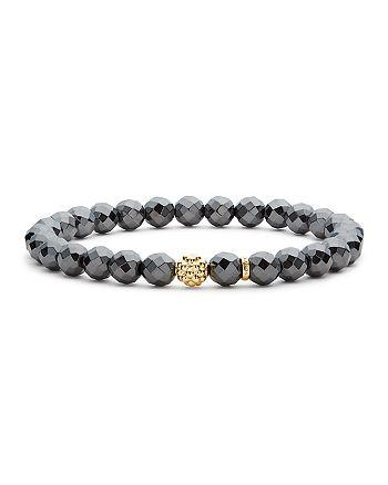 LAGOS - Caviar Icon Hematite Bracelet with 18K Gold Caviar Station