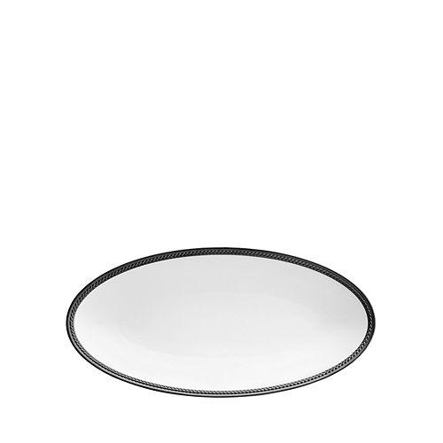 L'Objet - Soie Tressee Black Small Oval Platter