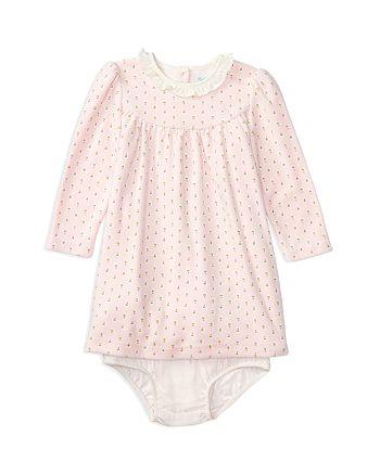 df8a12ca Ralph Lauren Girls' Velour Floral Print Dress & Bloomer Set - Baby ...