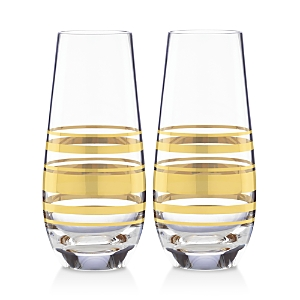 kate spade new york Hampton Street Stemless Champagne Flute, Set of 2