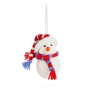 Melange Knit Snowman Ornament