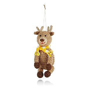 Melange Crochet Reindeer Ornament