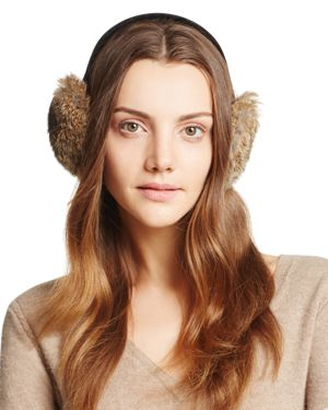 Surell Rabbit Fur Ear Muffs