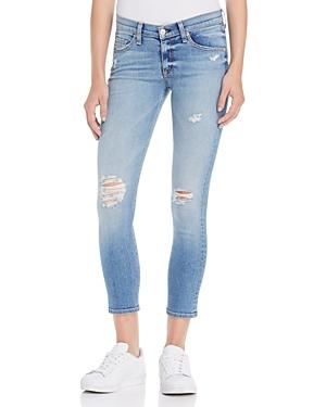 rag & bone/Jean Distressed Capri Jeans in Gunner