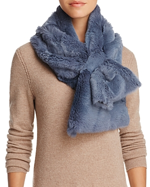 Lea Clement Rabbit Fur Scarf
