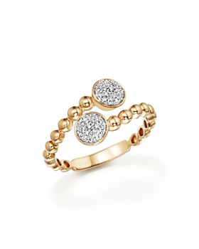 Bloomingdale's - Diamond Pavé Bypass Ring in 14K Yellow Gold, .16 ct. t.w. - 100% Exclusive