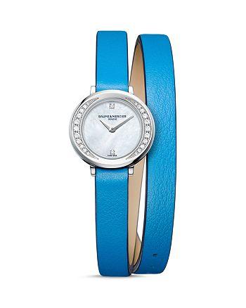 Baume & Mercier - Petite Promesse Diamond Double Wrap Watch, 22mm