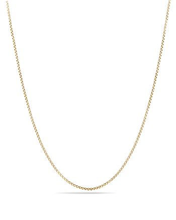 David Yurman - Box Chain Necklace in 18K Gold