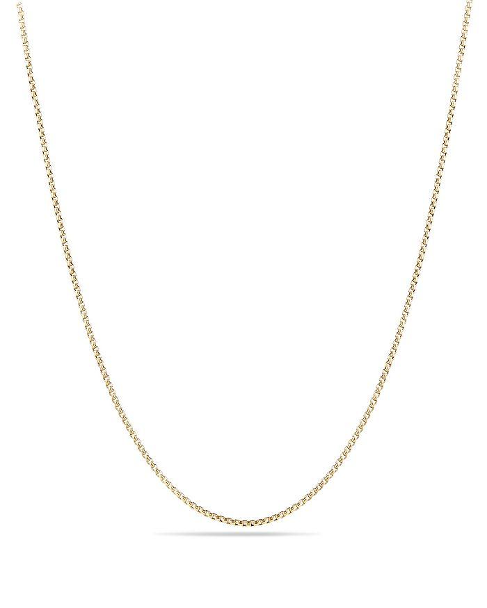 David Yurman - Box Chain Necklace in 18K Gold