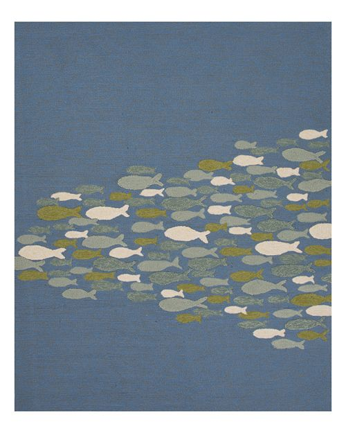 "Jaipur - Coastal Lagoon Go Fish Area Rug, 7'6"" x 9'6"""