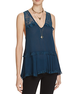 Free People Lace Trapeze Top