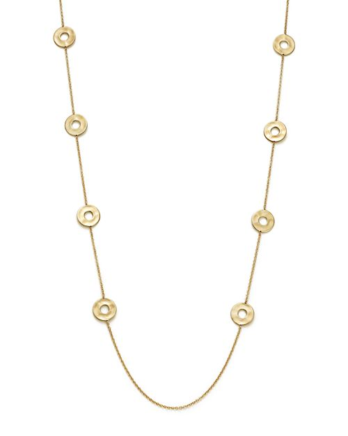 """IPPOLITA - 18K Yellow Gold Senso™ Open Disc Station Necklace, 37"""""""