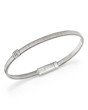 Marco Bicego 18K White Gold Masai Single Station Diamond Bracelet