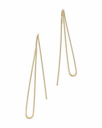 Bloomingdale's - 14K Yellow Gold Teardrop Threader Earrings   - 100% Exclusive