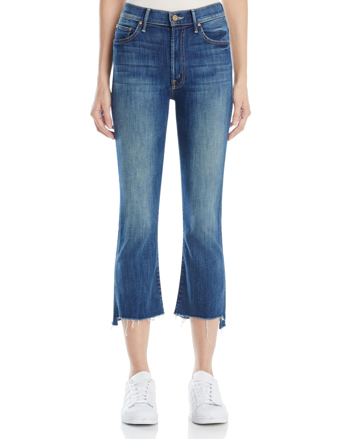 Mother Woman The Insider Crop High-rise Flared Jeans Dark Denim Size 25 Mother