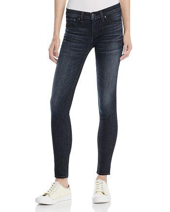 rag & bone/JEAN - Skinny Jeans in Black Rae