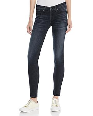 rag & bone/Jean Skinny Jeans in Black Rae thumbnail