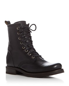 Frye - Women's Veronica Lace Up Combat Booties