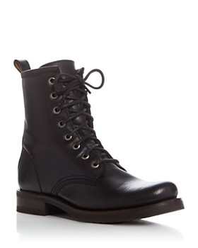 Frye - Women s Veronica Lace Up Combat Booties ... f2df30736d44