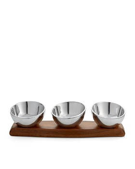 Nambé - Luna Triple Condiment Bowl - 100% Exclusive