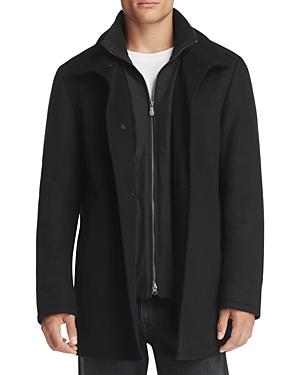 Boss Green Coxtan Layered Wool Blend Coat