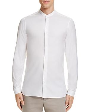 Z Zegna Guru Collar Slim Fit Button-Down Shirt