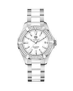 TAG Heuer Aquaracer Diamond Bezel Watch, 35mm - Bloomingdale's_0