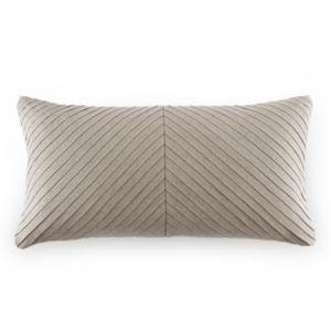 Dwell Studio Pleated Linen Oblong Decorative Pillow, 12 x 24