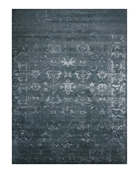 Nourison - Silk Shadows Rug Collection - Abstract Blue Stone