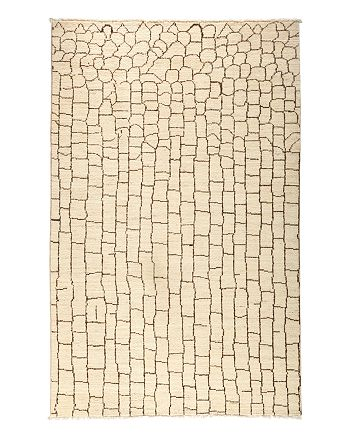 "Solo Rugs - Moroccan Area Rug - Beige Bricks, 5'1"" x 7'8"""
