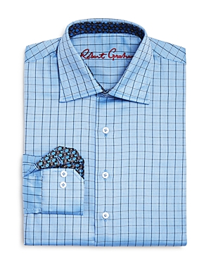 Robert Graham Boys' Windowpane Plaid Button-Down Dress Shirt - Big Kid