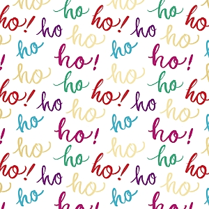 Fringe Brush Ho Ho Ho! Gift Wrap