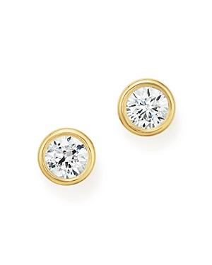 Diamond Bezel Stud Earrings in 14K Yellow Gold, 1.0 ct. t.w. - 100% Exclusive